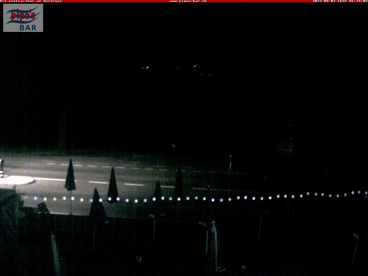 Panorama Webcam mit Blick NW von der Coctailbar am Untersee in Berlingen, West Point, pipo's Bar